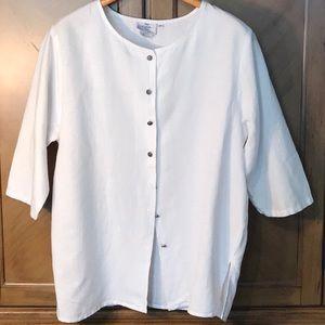 c4e964599b Hot Cotton Tops - Hot Cotton plus size linen blend tunic top. NWOT